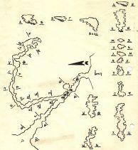 """Първата карта на пещерата """"Янкулова дупка""""."""
