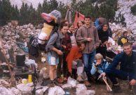 Авторът на статията Катерина Богачева и участници в експедицията.