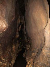 """Профил на галерията в """"Шаманската пещера""""."""