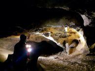 """Прилепна колония в пещерата """"Андъка"""" при Дряновския манастир. Снимка: Константин Стоичков ПК """"Хеликтит"""" София."""